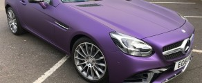 Mercedes SLK Matte Purple