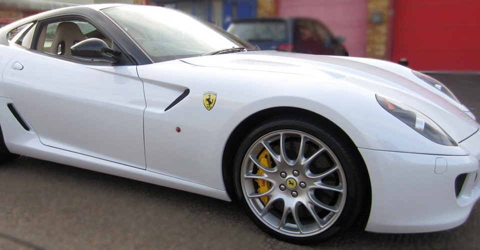 Ferrari 599 Wrapped Gloss White