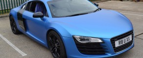 Audi R8 Matte Metallic Blue