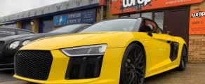 R8 Convertible Yellow