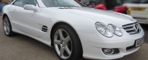 Mercedes SL Metallic White