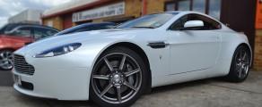 Aston V8 Vantage Pearl White