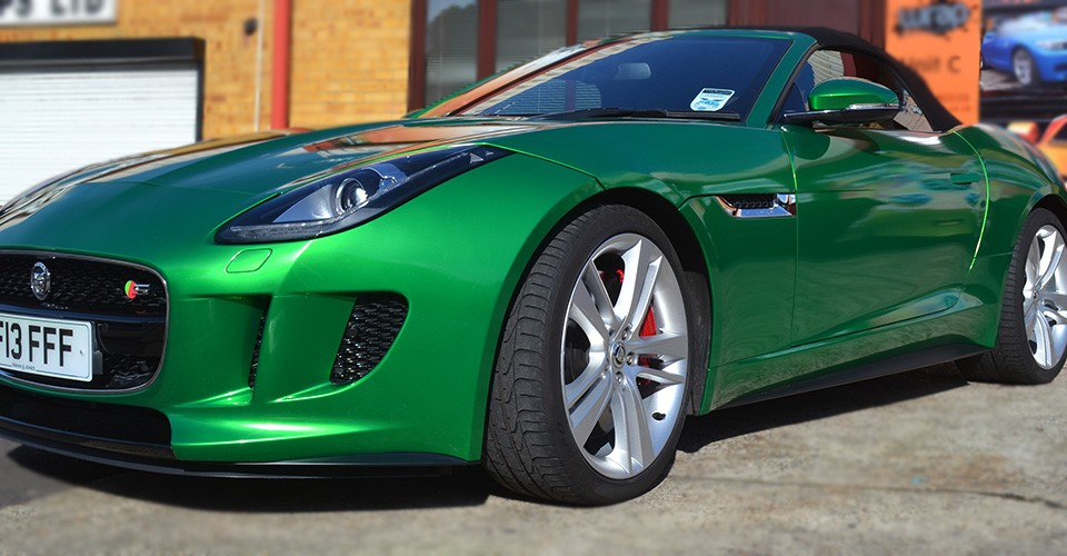 F Type Metallic Green