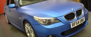 BMW 5 Series Matte Blue