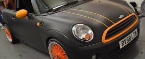 MINI Matte Black @ Orange