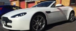 Aston V8 Pearl White