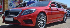 Mercedes S Class Metallic Red
