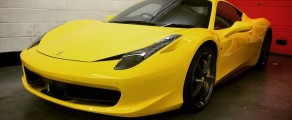 Ferrari 458 Paint protection wrap