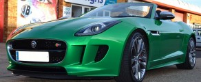 F Type Metallic Green 2