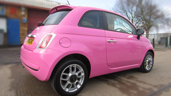 fiat 500 pink wrap concepts. Black Bedroom Furniture Sets. Home Design Ideas