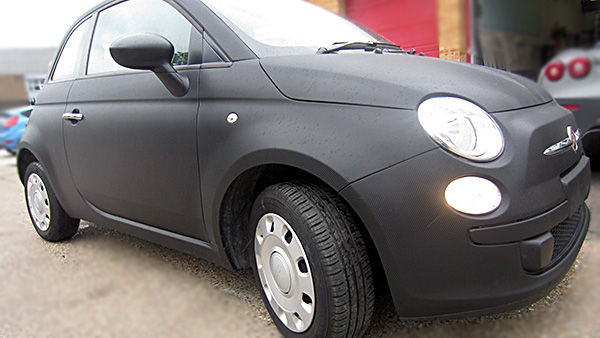 Fiat 500 Carbon wrap