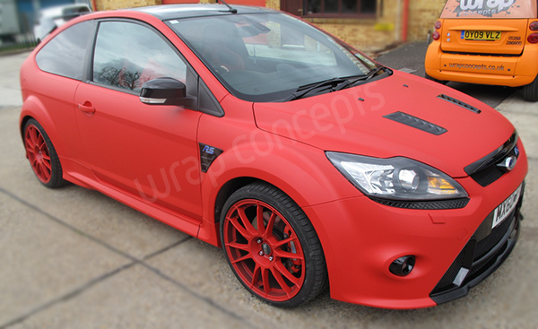 RS500 Matt Red wrap