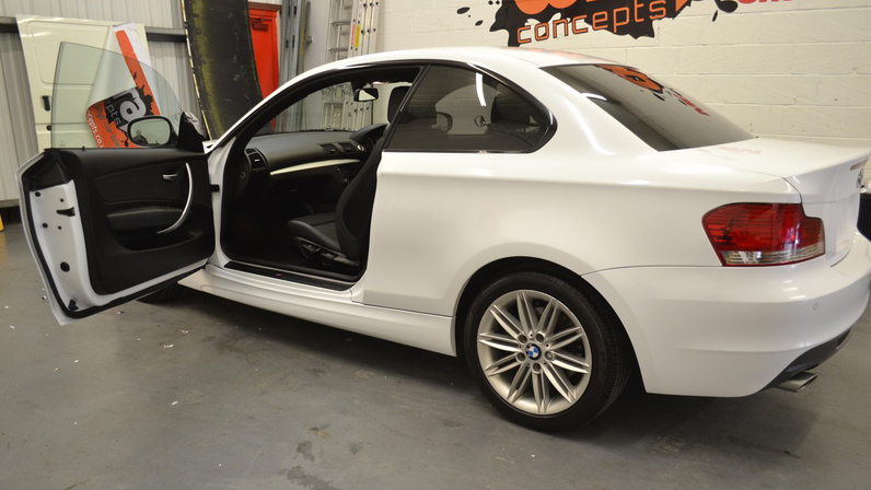 bmw white wrap