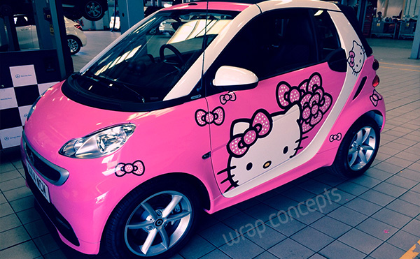 essex car wraps hello kitty