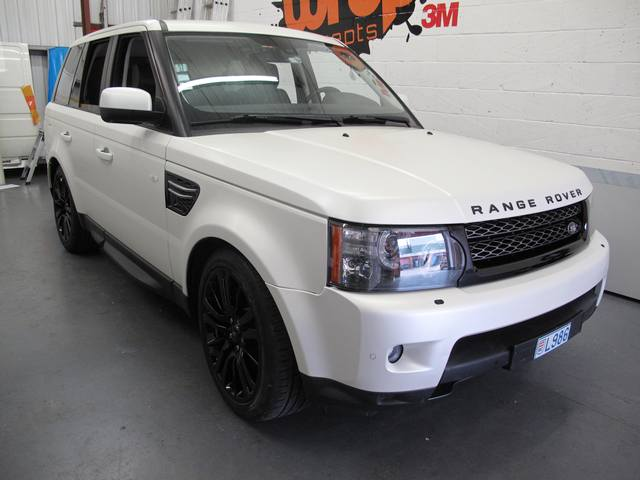 Range Rover satin pearl wrap