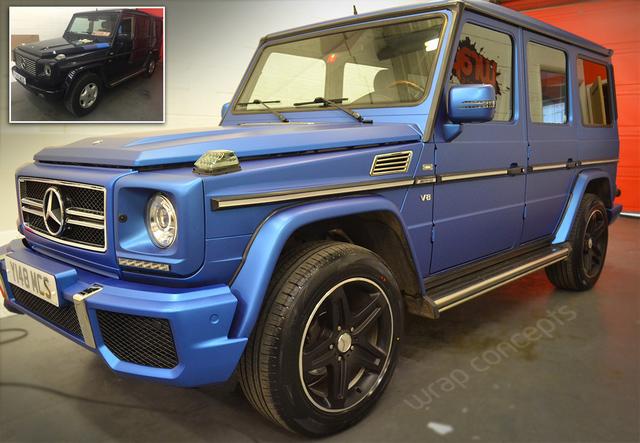 G-Wagon Matt Metallic Blue Wrap