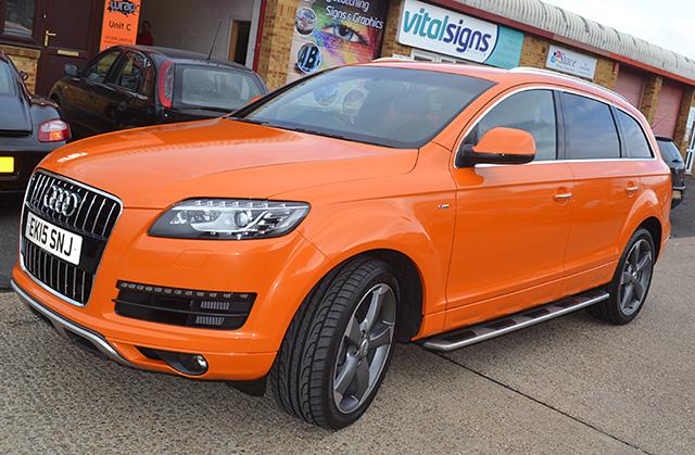 Audi Q7 Metallic Orange Wrap Concepts