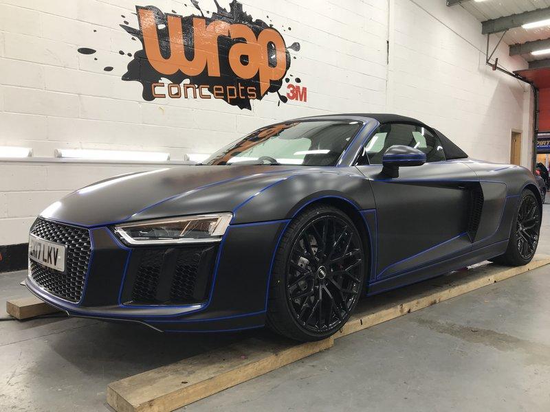 Audi R8 tron wrap